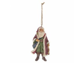 Victorian Santa with Satchel (Ornament)