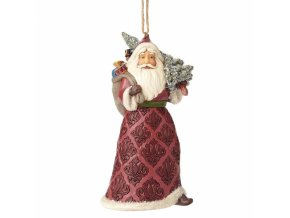 Victorian Santa with Tree (Ornament)