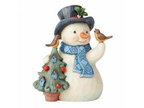 Heartfelt Holidays (Snowman with Tree and Birdhouse)