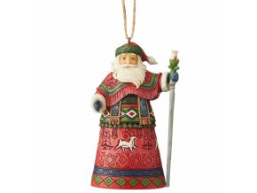 Lapland Santa with Staff (Ornament)