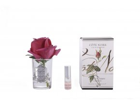GMR44rose bud carmine red clear glass with box 1 1800x1200