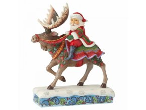 Merry Christ-Moose (Santa Riding Moose)