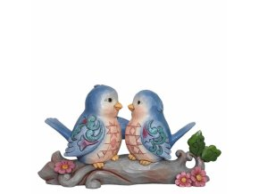 Happiness Together (Lovebirds on Branch Figurine)