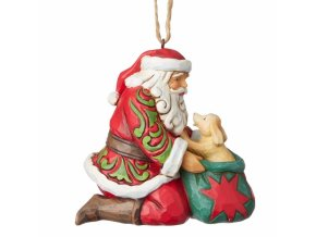 Santa with Puppy (Ornament)
