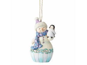 Snowman with Baby Penguin (Ornament)