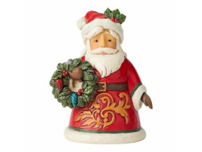 Santa Holding Wreath Mini