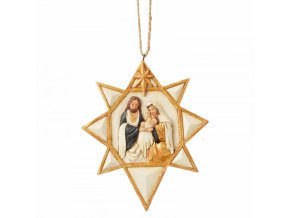 Black and Gold Nativity Star (Ornament)