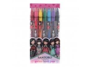 804GJ01 Gorjuss Cityscape Brush Marker Pen Set 1 WR