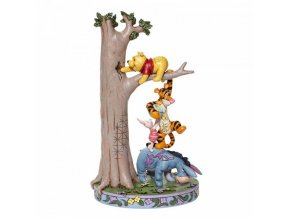 Disney Traditions - Hundred Acre Caper - Tree with Pooh and Friends(Eeyore, Pooh, Tigger & Piglet)