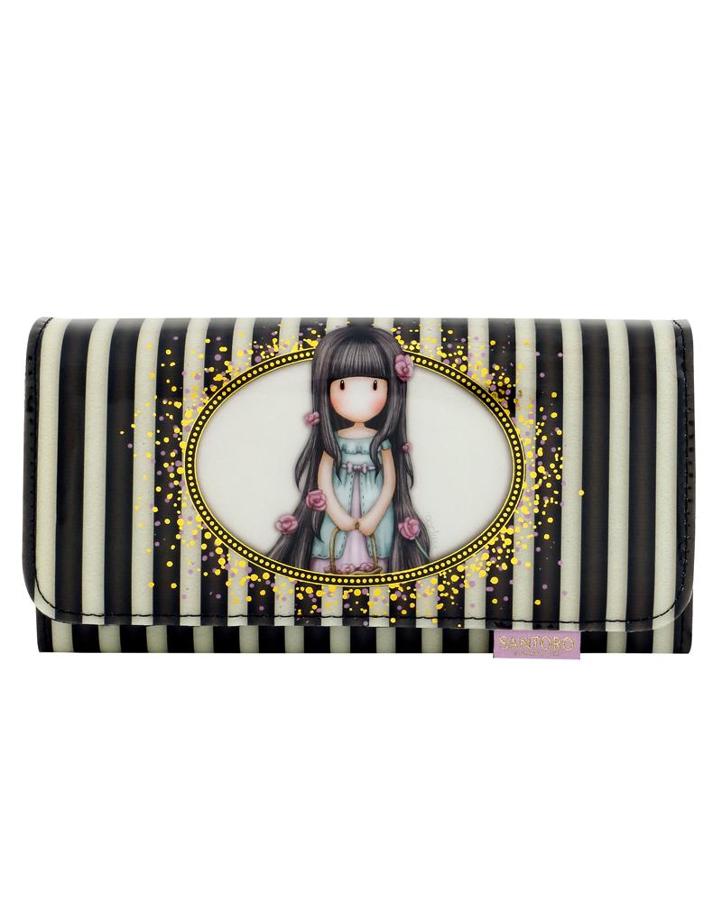Gorjuss - Velká laková peněženka - Rosie (Stripes Collection)