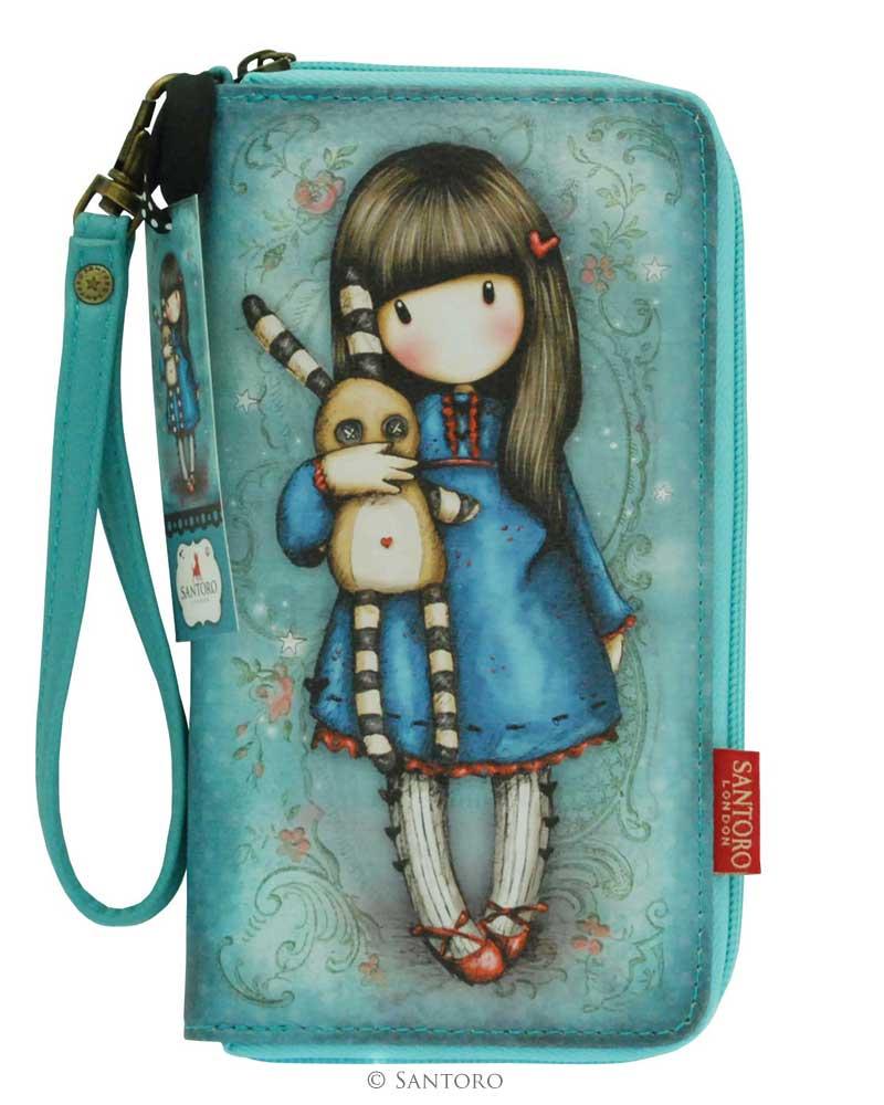 Gorjuss - Velká peněženka na zip - Hush Little Bunny