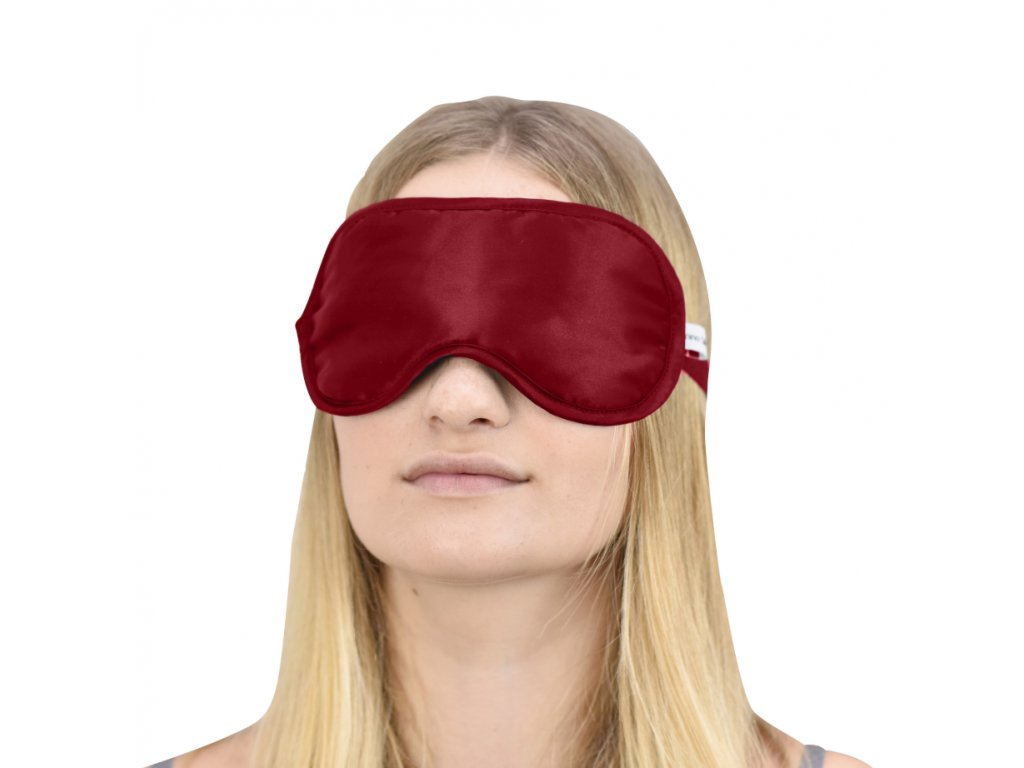 sleep mask burghundy
