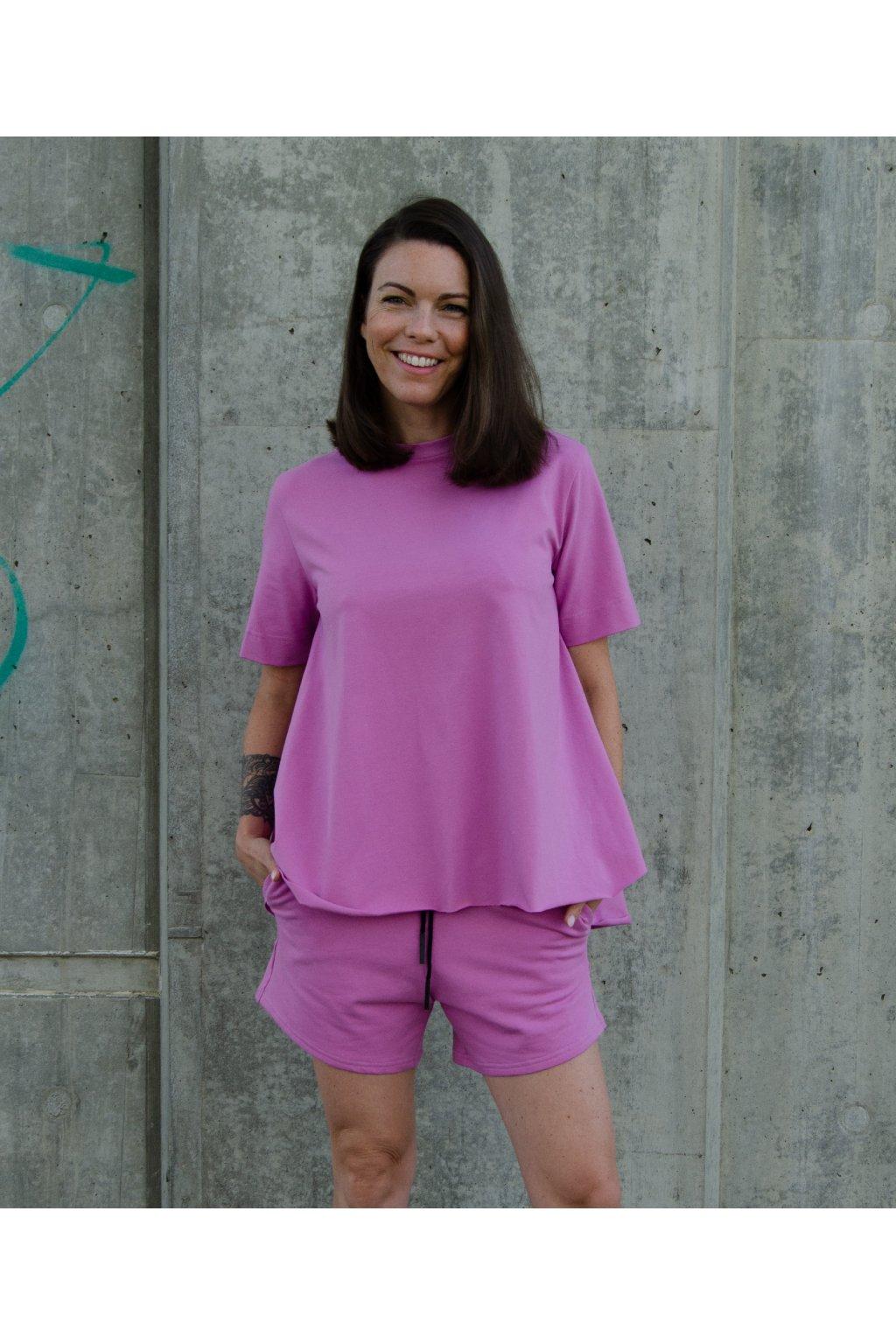 Tričko áčko (100% organická bavlna) fialová