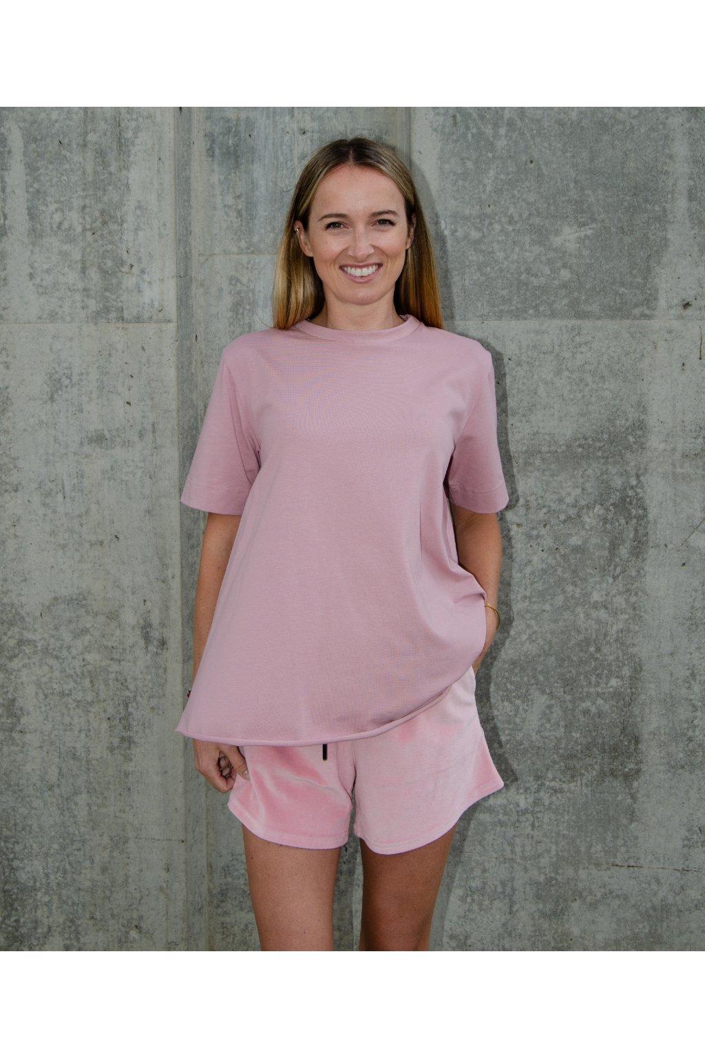 Tričko áčko (100% organická bavlna) růžová