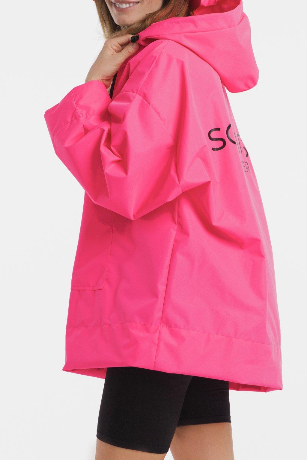 Stylová pláštěnka SOULMATES • neon pink / neon růžová
