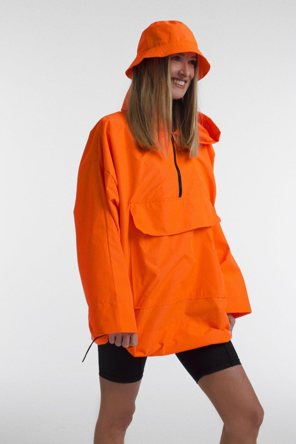 Stylová pláštěnka SOULMATES • neon orange / neon oranžová