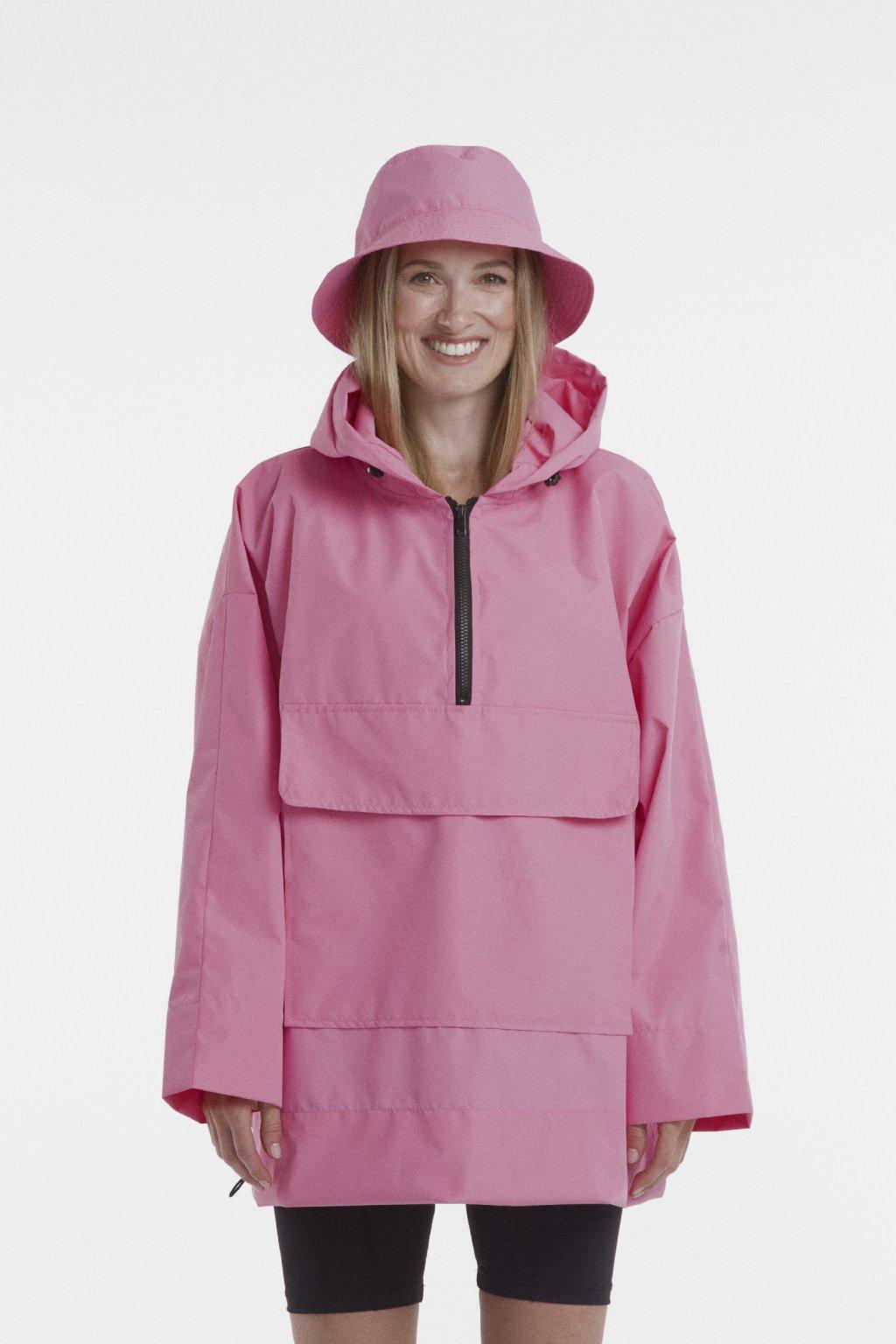 Stylová pláštěnka SOULMATES • baby pink / baby růžová