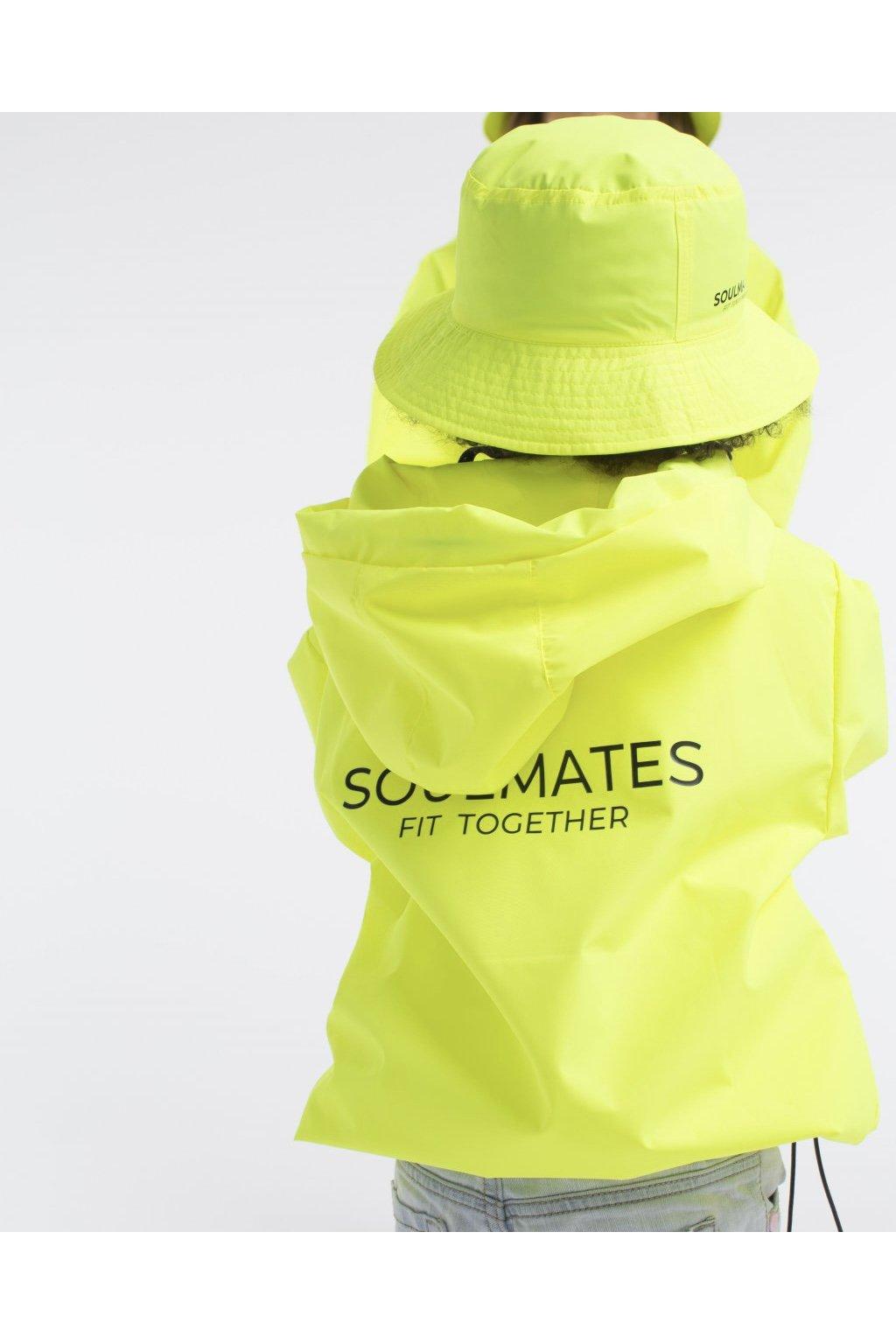 Stylová pláštěnka SOULMATES dětská • neon yellow / neon žlutá