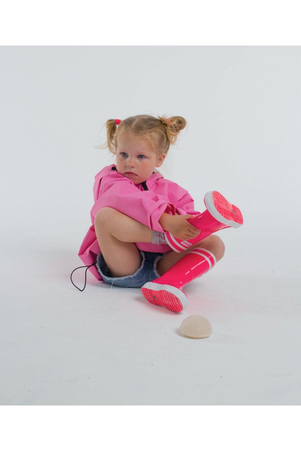Stylová pláštěnka SOULMATES dětská • baby pink / baby růžová