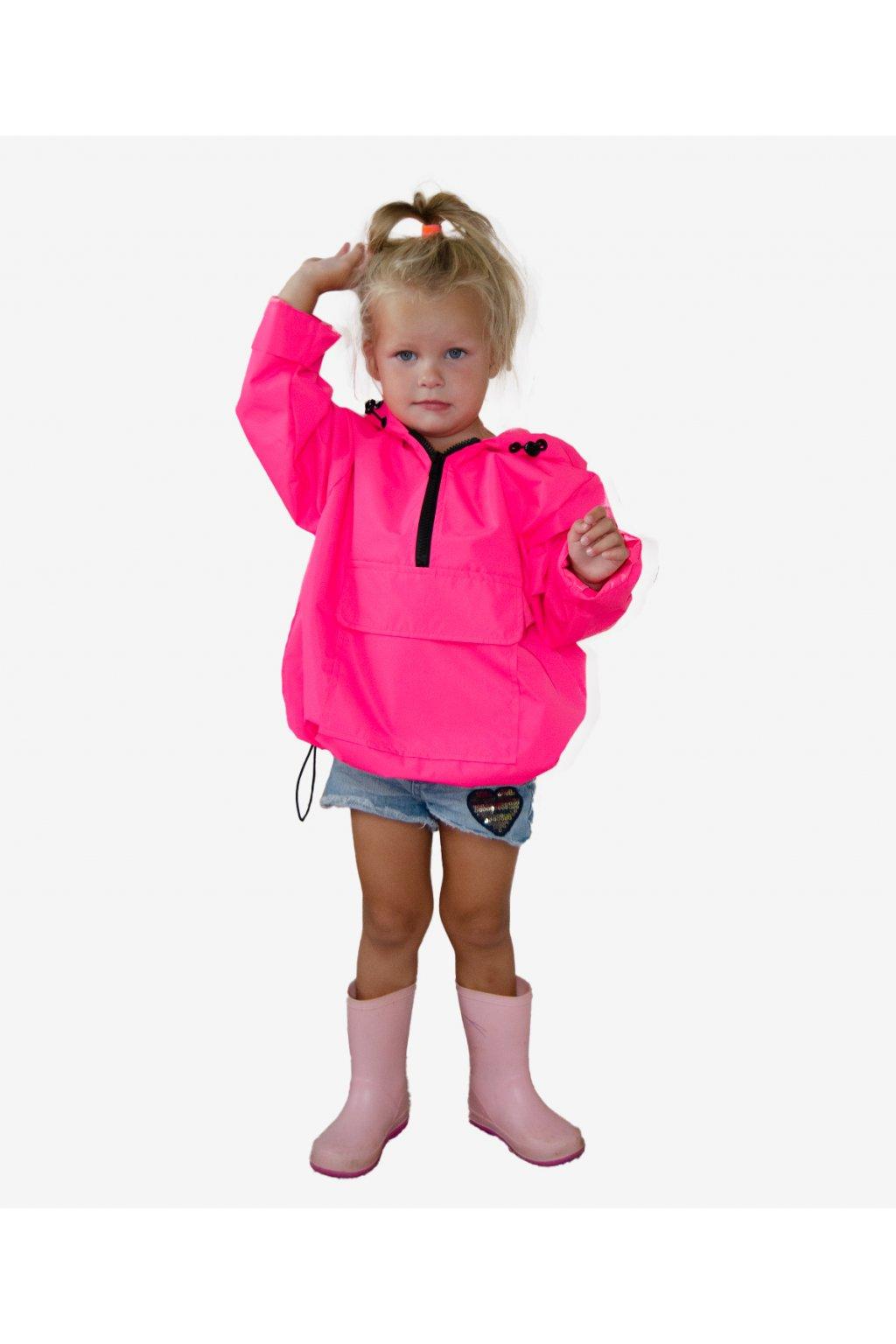 Stylová pláštěnka SOULMATES dětská • neon pink / neon růžová