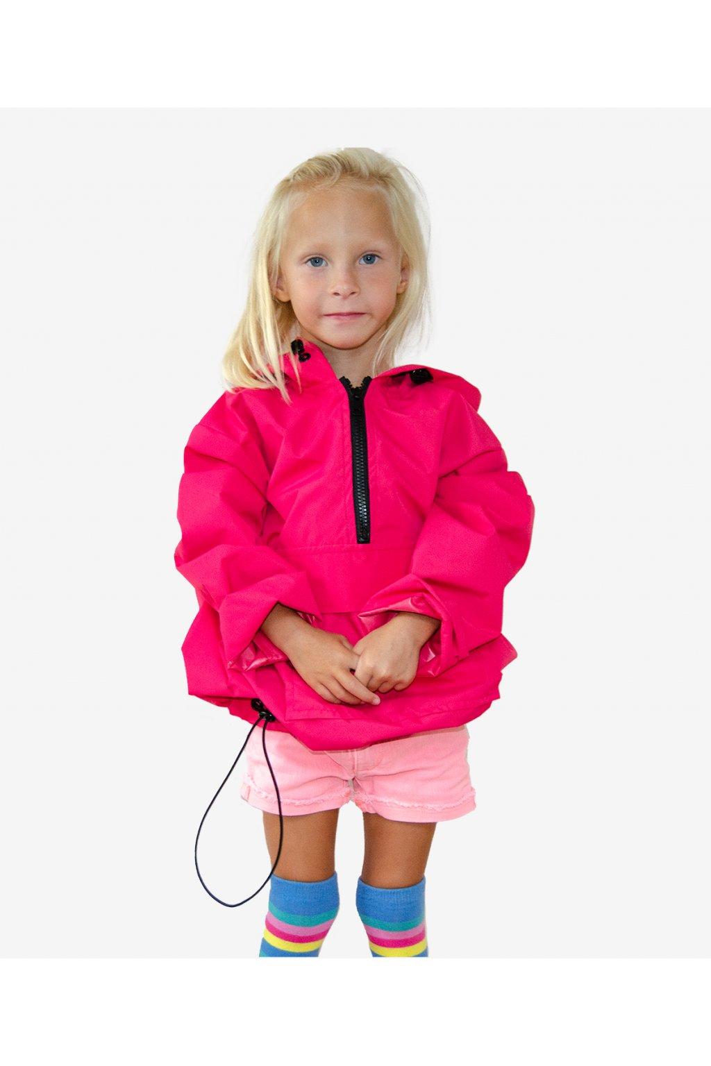 Stylová pláštěnka SOULMATES dětská • raspberry / malinová