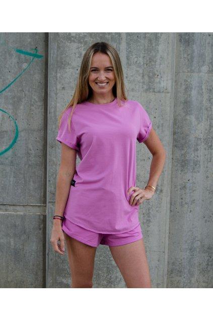 Tričko basic (100% organická bavlna) fialová