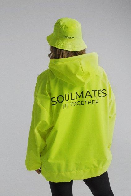 Stylová pláštěnka SOULMATES • neon yellow / neon žlutá