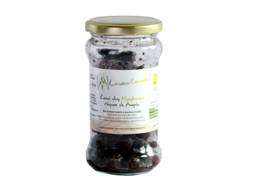 Černé konfitované olivy malé