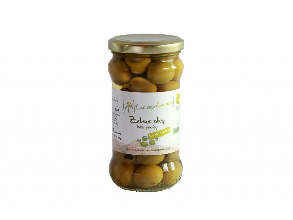 Zelené olivy bez pecky malé