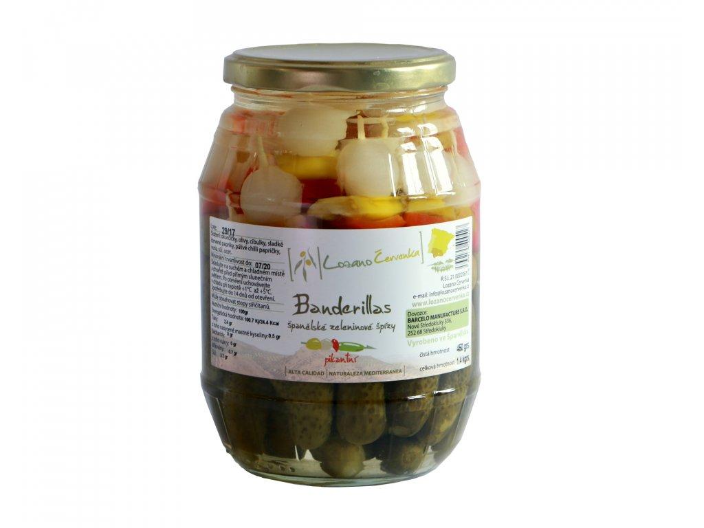 Lozano Cervenka Banderillas spanelske zeleninove spizy 450g