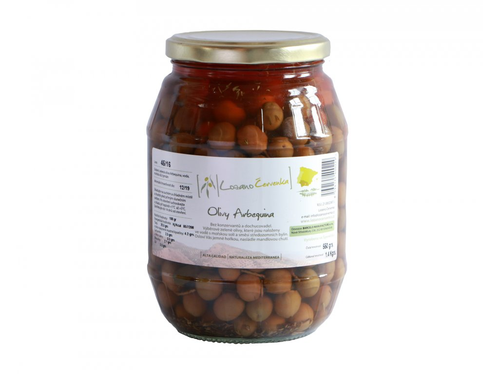 Olivy Arbequina 500g