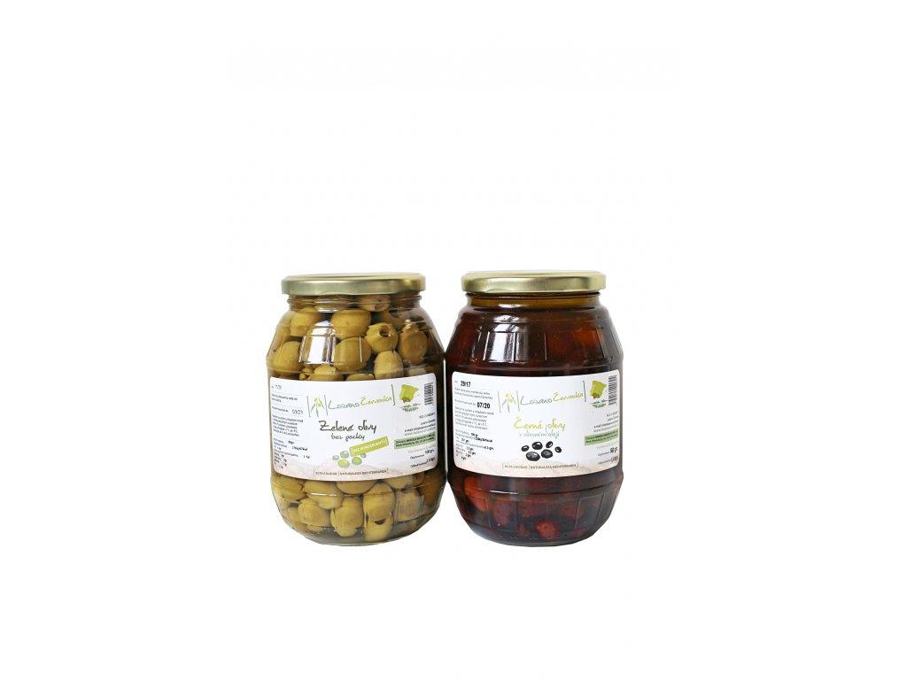 Olivy černé a zelené