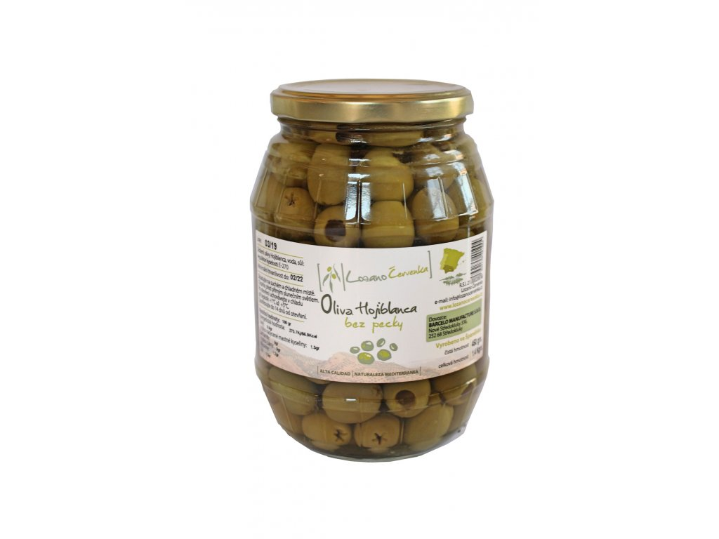 Zelené olivy Hojiblanca - 550g
