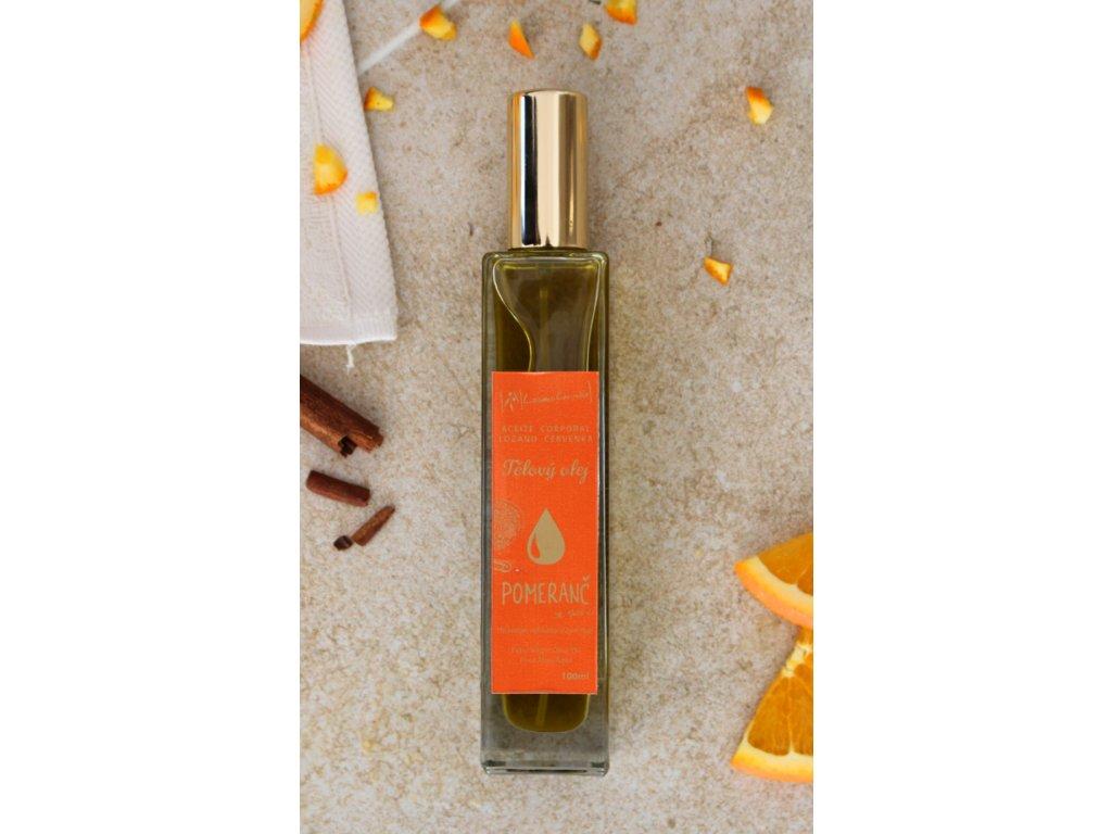 Tělový olej s pomerančem a skořicí