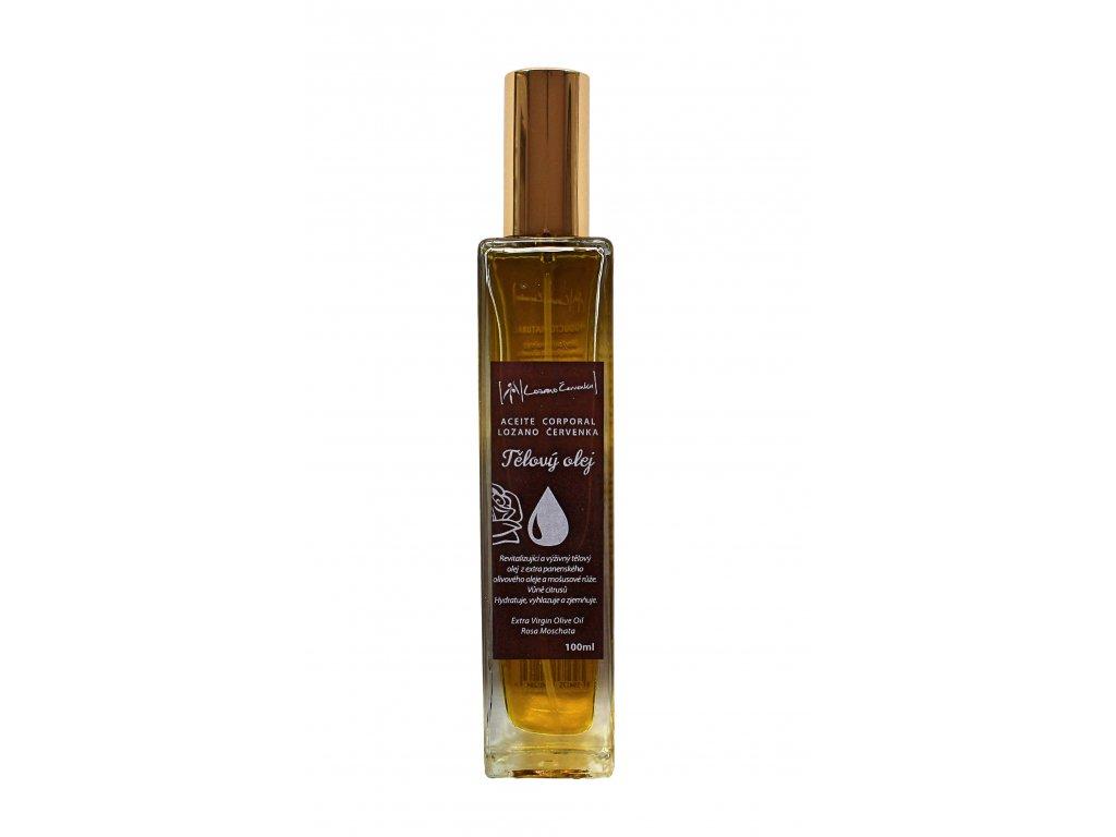 Tělový olej s růží