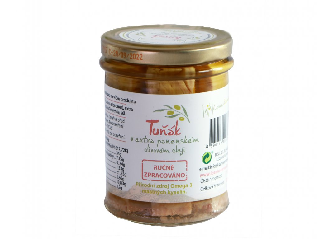 Lozano Cervenka Tunak v extra panenskem olivovem oleji Arbequina