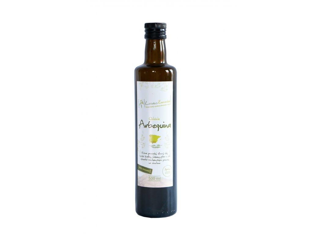 olej Arbequina nefiltrovaný