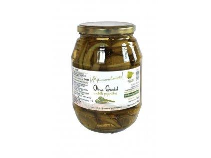 Olivy Gordal s chilli papričkou, 450g