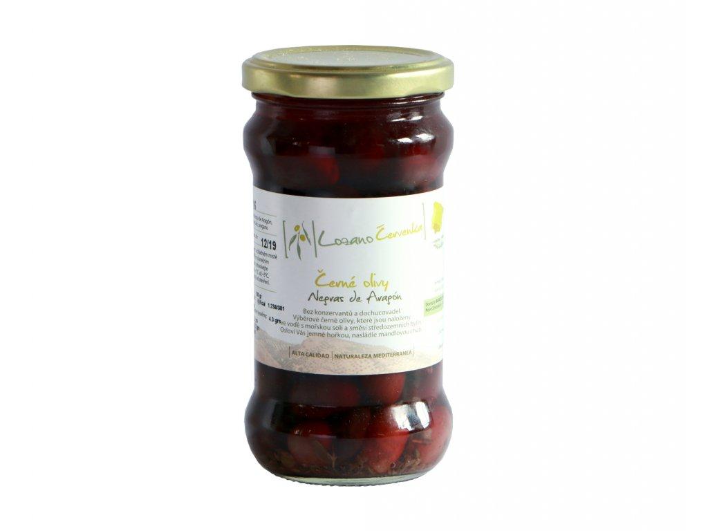 Černé olivy malé bez dochucovadel