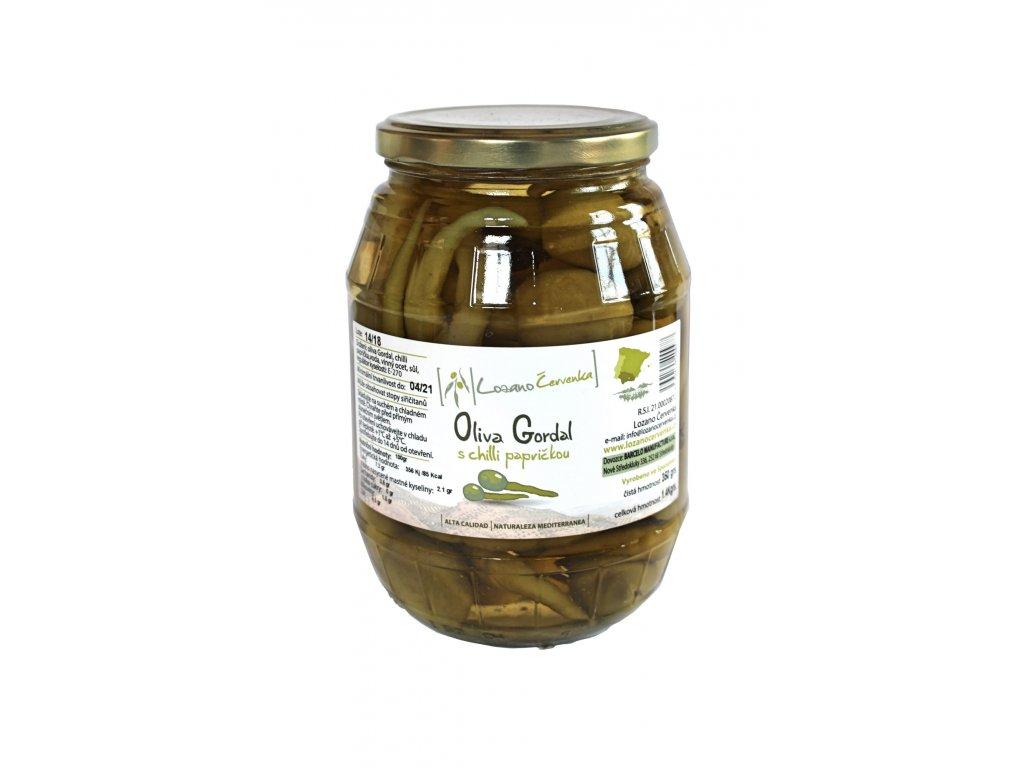 Oliva gordal s chilli papričkou