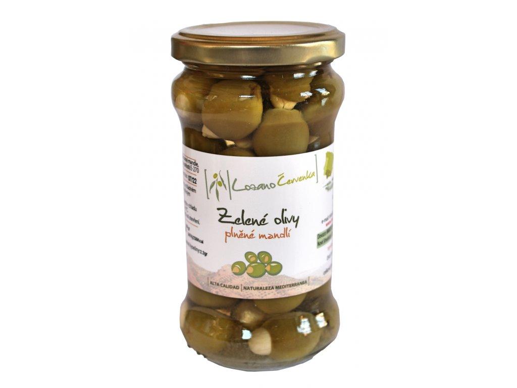 Zelené olivy s mandlí