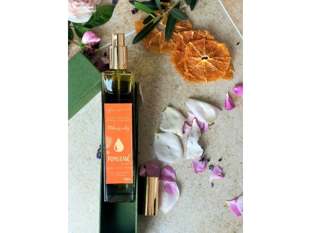Telový olej s pomarančom a škoricou - Darčekové balenia