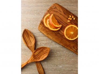 Vareška a vidlička z olivového dreva