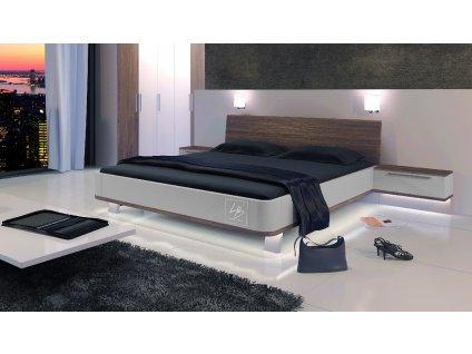 VALLY manželská postel (Provedení s levitujícími nočními stolky 60cm)