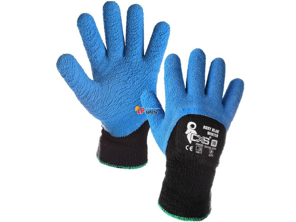 CXS ROXY BLUE WINTER polomáčané zimné rukavice