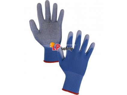 CXS BRITA DOTS polomáčané rukavice