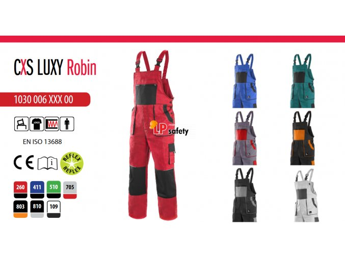 Nohavice s náprsenkou CXS LUXY ROBIN