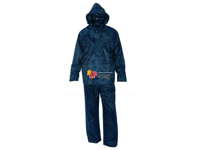 vyr 700 CXS PROFI modry nepremokavy vode odolny oblek do dazda s kapucnou v golieri 1170 003 400 00 PROFI