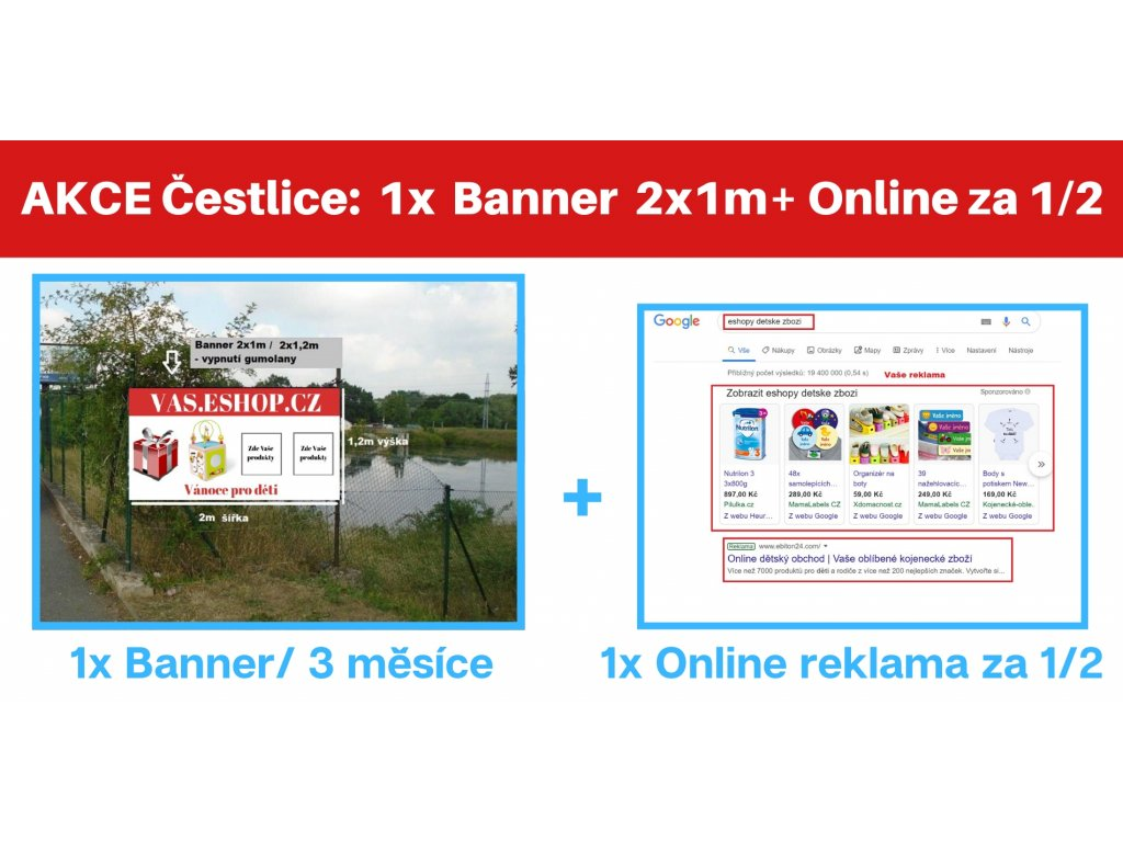 Banner 2x1m Cestlice + druha za polovinu