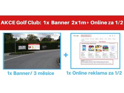 ČESTLICE:  Banner 6x1m na 3 měsíce + ONLINE REKLAMA za 1/2